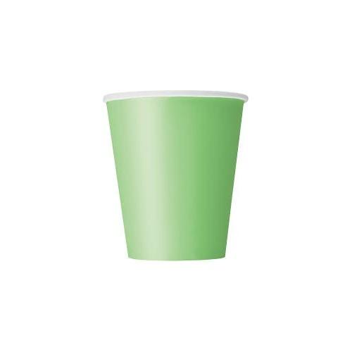 Cups 9OZ - lime green 8 pcs