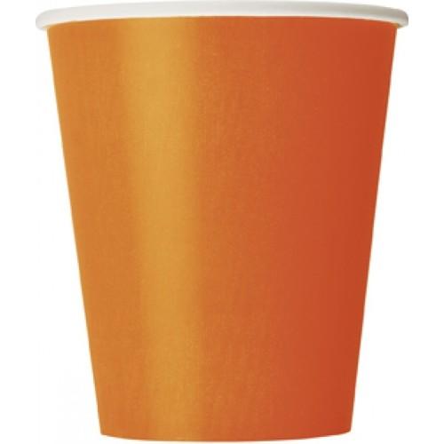 Cups 9OZ - orange 8 pcs