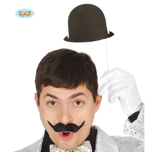 Bowler hat on sticks