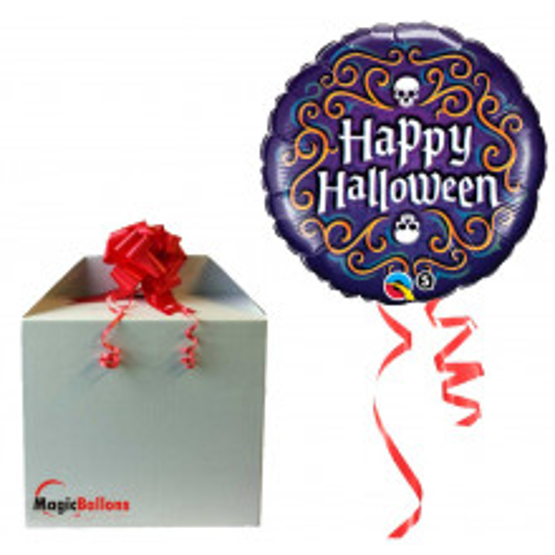 Halloween Skeleton Filigree - foil balloon in a package
