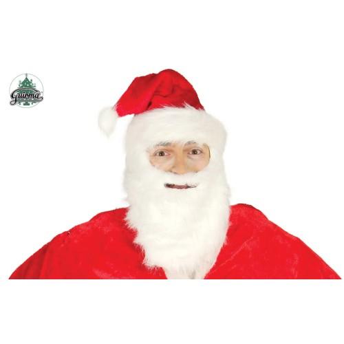 Weihnachtsmütze mit Bart