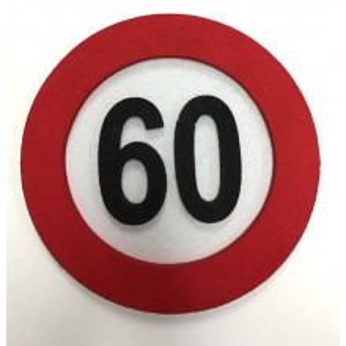 Verkehrszeichen Dekoration 60