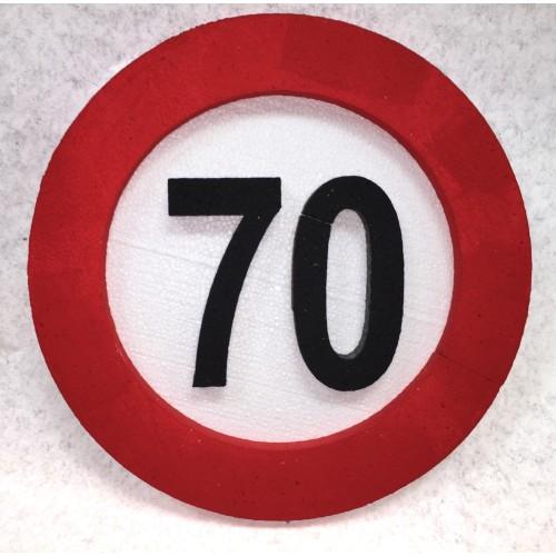 Prometni znak dekoracija 70