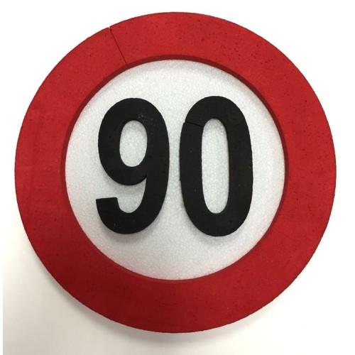 Traffic sign decoration 90