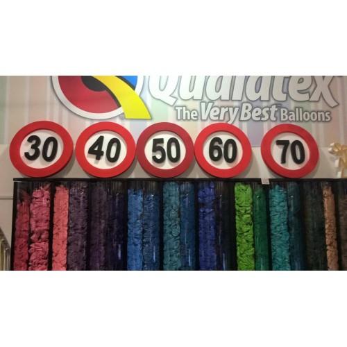 Verkehrszeichen Dekoration 90