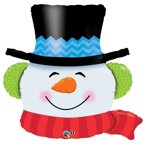 Smilin' Snowman  - foil balloon