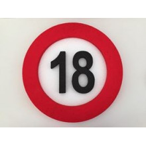 Verkehrszeichen Dekoration 18