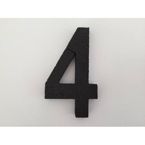 Nummer 4  - schwarz