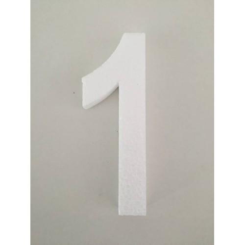 White number 1