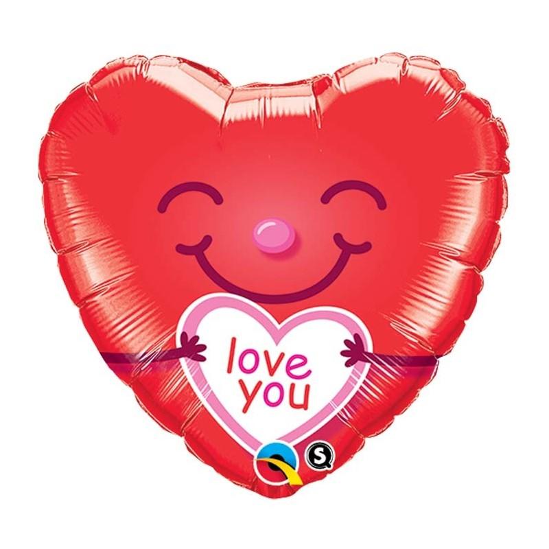 Love You Smiley Heart - folija balon