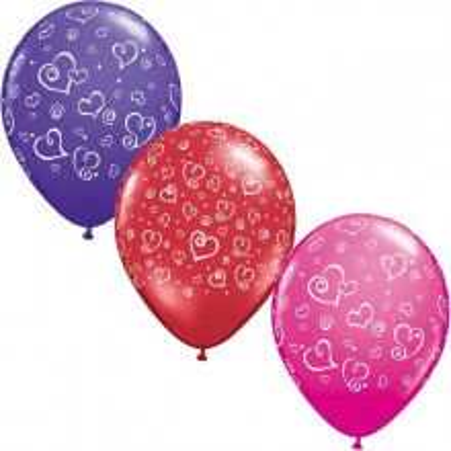 Balloon Swirl hearts