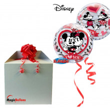 Mickey & Minnie I love you - b.balloon in a package
