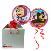 Masha and the Bear  - foil balloon in a package