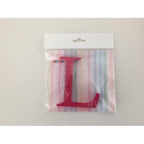Pink letter L