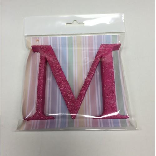 Pink letter M
