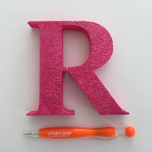 Pink letter R