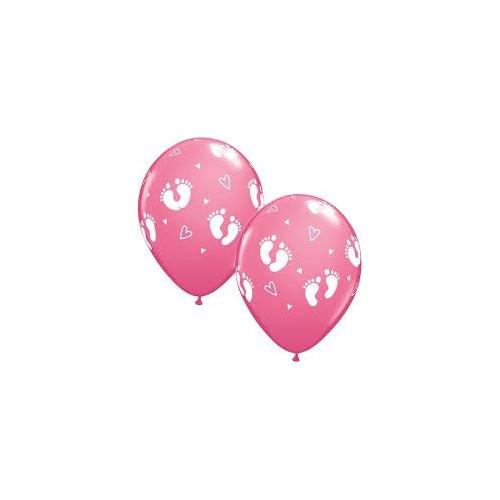 Balloon Baby Footprints & Hearts