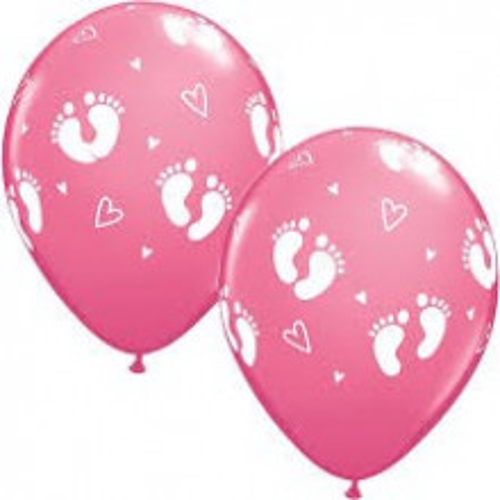 Balon Baby Footprints & Hearts