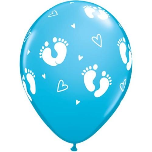 Ballon Baby Footprints & Hearts