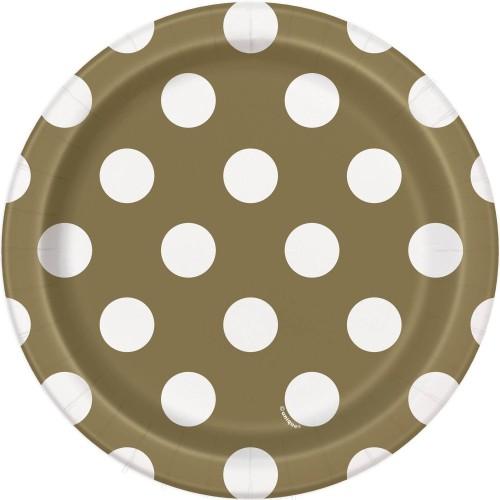 Zlati krožniki s pikami 18 cm