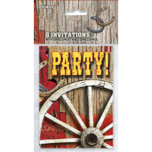 Rodeo Western invitations