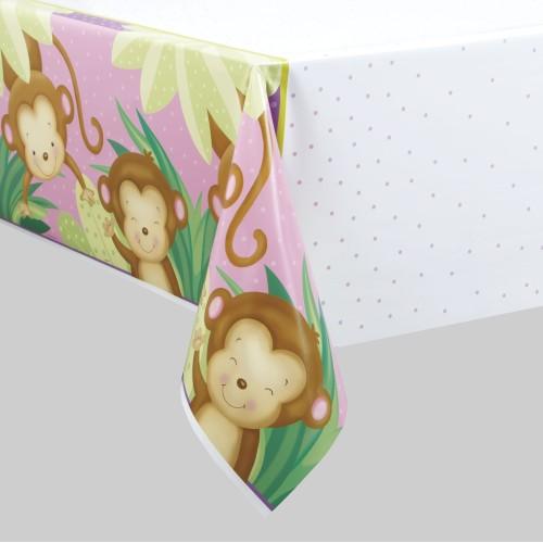 Girl monkey tablecover