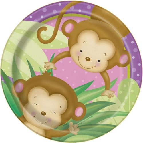 Girl monkey plates 18 cm