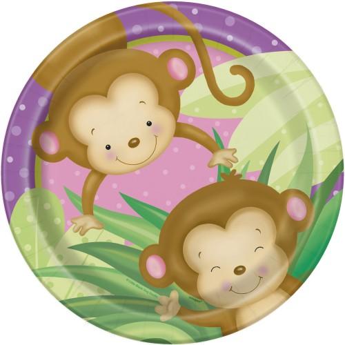 Girl monkey plates 23 cm