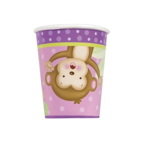 Girl monkey cups