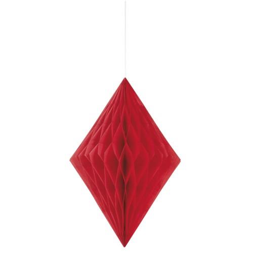 Diamantna viseča dekoracija - rdeča
