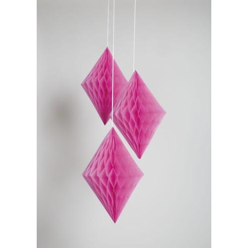 Diamond decoration - hot pink