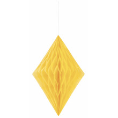 Diamantna viseča dekoracija - rumena