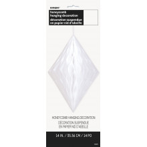 Diamond decoration - white