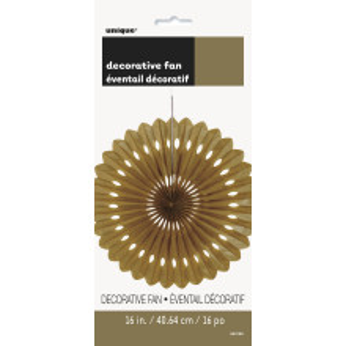 Decorative gold fan