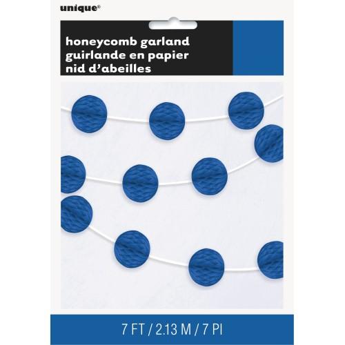 Honeycomb garland - royal blue
