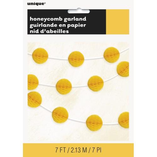 Honeycomb garland - sunflower yellow