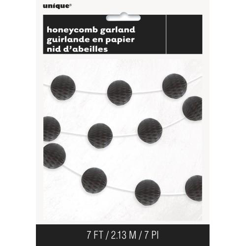 Honeycomb garland - black