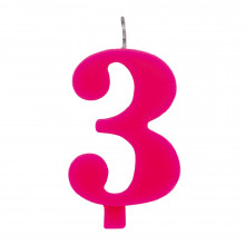 Čudežna svečka 3 - pink