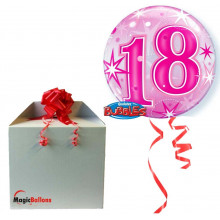 18 Pink Starbust Sparkle - b.balloon in a package