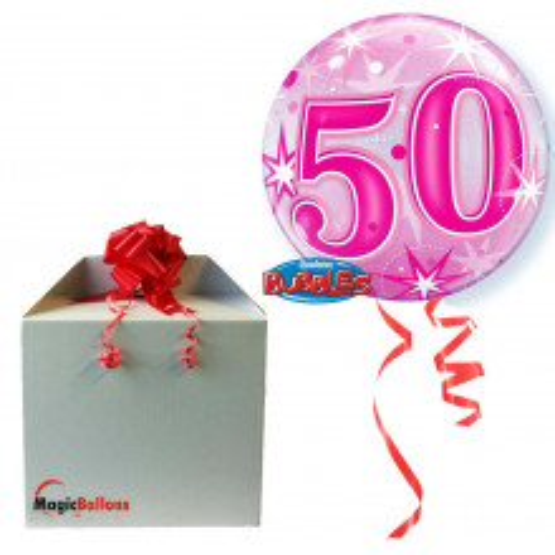 50 Pink Starbust Sparkle - b.balon u paketu