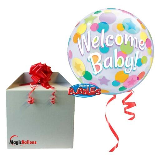 Welcome Baby Colourful Dots - b.balon v paketu