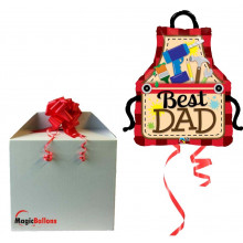 Best Dad Apron - foil balloon in a package