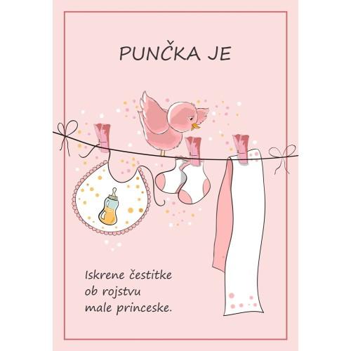 Greeting card Punčka je