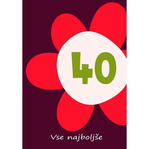 Greeting card Vse najboljše 40