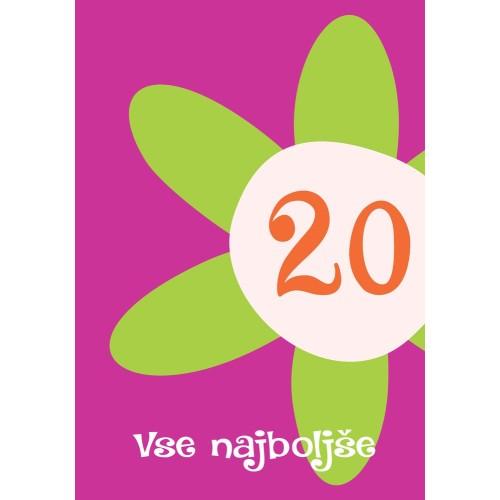 Greeting card Vse najboljše 20