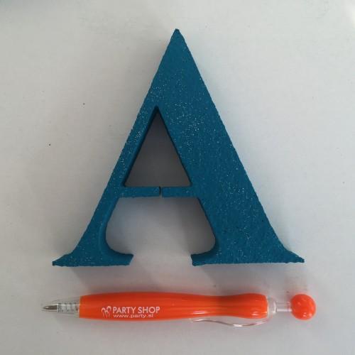 Blue letter A