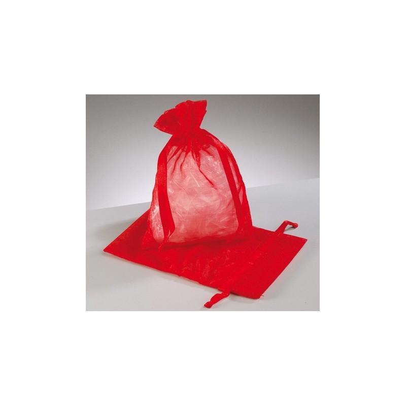 organza vrečke rdeče