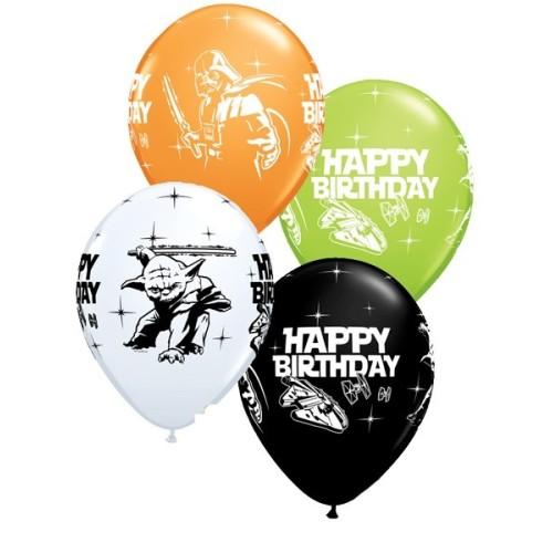 Lateks Balon 28 cm - Star Wars Bday