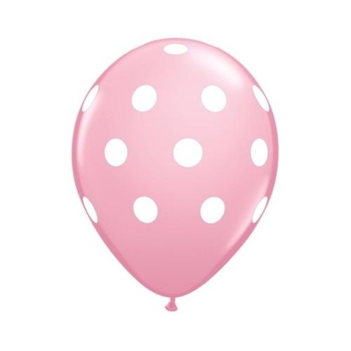 Balloon Polka dot - pink & berry