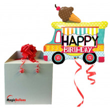 Bday ice cream truck - foil balloon in a package
